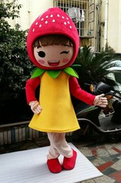 Wholesale Strawberry Fruit Costumes - 2016 hot brand new Fruit STRAWBERRY MASCOT COSTUME Cartoon character ADULT mascot Costumes