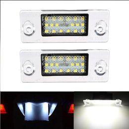 Wholesale Audi A4 B5 - 2Pcs Error Free Car LED License Number Plate Light Lamps Auto Bulb Rear Light Car Accessories fit for Audi A4 S4 B5 1998-2001