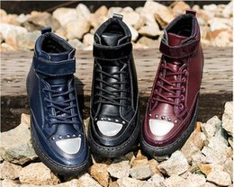 Wholesale Atmosphere Shoes - 2016 new winter fashion atmosphere men's boots, cotton boots, cold proof shoes, Martin shoes. Keep warm. Casual shoes.