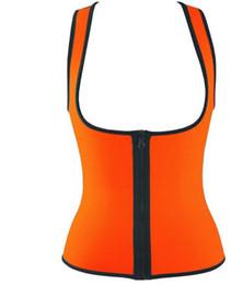 Plus taille waist training corset gilet en Ligne-Plus la taille des femmes sueur renforcement de la taille de la formation corset cincher tailleur entraîneur sauna costume Veste de sport chaud shaper corps sport top