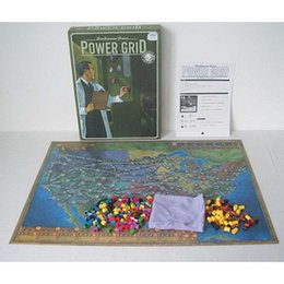 """Wholesale Power States - """"Power Grid """" Board Game English Verison ,Basis+Expand Cards Game ,Germany + United States Map With English Instructions"""