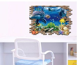 Wholesale Stickers For Kids Nemo - 60*90Cm New Finding Nemo Wall Stickers 3D Catoon baby room Wall Decals Bedroom Living Room Removable Wall Stickers Murals