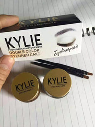 Wholesale Quick Easy Cakes - Factory Direct DHL Free Shipping New Makeup kylie jenner Eyeliner double color eyeliner cake Gei Eyeliner paste kit