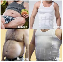 Wholesale Mens Slimming Vest Body Shaper - Hot sale mens waist trimmer Vest slimming corset for men Belly Fatty thermal Underwear body shaper shirt Compression