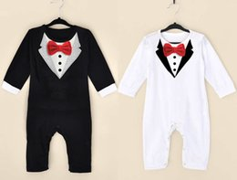 Wholesale French Style Clothes - 2016 spring and summer new style baby boy gentleman Climb clothes baby's Romoers kids one-piece garment children's jumpsuits.