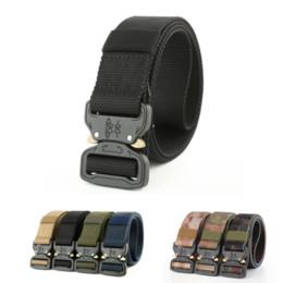 Wholesale Tactical Nylon Webbing - 2017 New Fashion Unisex Army Tactical Waist Belt 3.8cm Jeans Male Casual Canvas Webbing Nylon Duty Belt