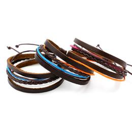 Wholesale Christmas Gift Wrap Sale - Hot Sale Infinity Bracelets Handmade Colorful Braided Rope Leather Bracelets Bangles Multilayer Wrap Wristband Fashion Wrist Jewelry Cheap