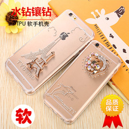 Wholesale Iphone Hard Diamond Case - Rhinestone Case Cover For Apple Iphone 6s ,New Arrival Diamond Hard Back Mobile phone Case Cover Protective Shell