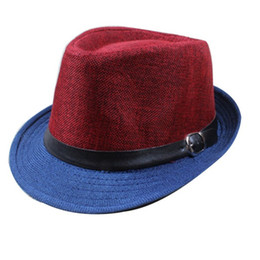 Wholesale wide brimmed cooling hats - Wholesale-2016 Brand Summer Men Cool Fedora Hats Fashion Wide Brim Hats Boys Gangster Caps