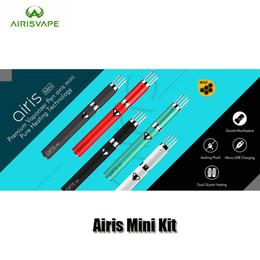 Wholesale Premium Mini - Authentic Airis Mini Kit 500mAh Battery Premium Vaporizer Vape Pen Kit With Ceramic Chamber Dual Quartz Coil