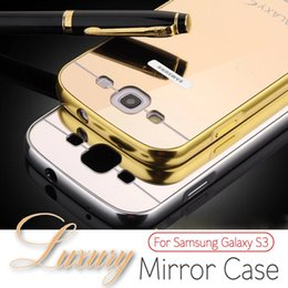 Wholesale Elegant Case S3 - Wholesale-For samsung galaxy S3 I9300, 2016 New Fashion Luxury Elegant High Quality Metal Aluminum Frame Case + Acrylic mirror Back Cover