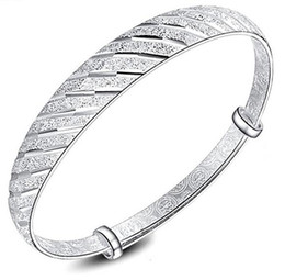 Wholesale Chinese Silver Bangles - Top Quality 925 Sterling Silver Bangle Bracelets Chinese style Adjustable Meteor Star Charm Cuff Bangles Bracelet Jewelry for Women