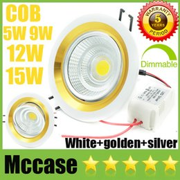 Wholesale Cabinet Room Design - EURO Design CREE 5W 9W 12W 15W COB LED Downlights CRI>88 Driver 85-265V Tiltable Fixture Recessed Cabinet Ceiling Down Lights Lamps CSA SAA