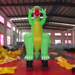 Wholesale China Outdoor Equipment - China inflatable advertising equipment 4 meters high dinosaur air dancer with EN14960 certification for outdoor activities