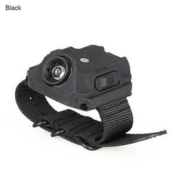 Wholesale Wrist Watch Led Flashlight - New LED Wrist Lights Black Tan Color USB Rechargeable Watches Light for Camping Hiking Hunting CL15-0102