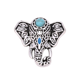 Wholesale Vintage Metal Elephants - Hot wholesale 12pcs Luxury Vintage Elephant 18mm Metal Snap Button Charm Button Ginger Snaps Jewelry