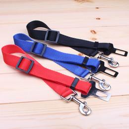 Wholesale Seat Cars For Sale - In-car Pet Safety Belt Pet Suppliers Nylon Seat Belt for Dog Cat Leash Blue Black Red Hot Sale