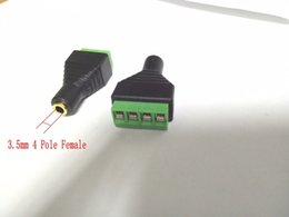 Wholesale Gold Plated Binding Posts - 2PCS Gold plated 4 pole 3.5mm Female socket Audio Terminal Binding Post adapter