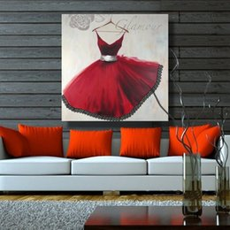 Peint à la main toile peintures à l'huile élégante robe photo mur Art pour la décoration de la maison Europe peinture à l'huile sans cadre personnalisé ? partir de fabricateur