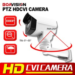 Wholesale Megapixel Ptz - New Model 1 3'322 Sensor+2431H 2.0 Megapixel 10x Optical Zoom Pan Tilt Rotation IR 80m Security HD 1080p Mini PTZ HD CVI Camera Outdoor