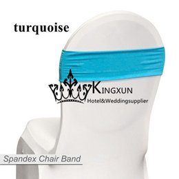 Wholesale Turquoise Chair Bands - Cheap Price Turquoise Color Spandex Lycra Chair Band \ Chair Sash Free Shipping