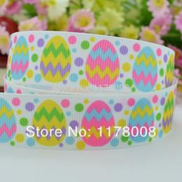 "Wholesale Wholesale Easter Grosgrain Ribbon - 50Y Free shipping 7 8"" 22mm Easter egg Printed grosgrain ribbon,hairbow DIY handmade clothing materials wholesale OEM"
