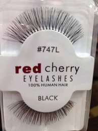 Wholesale Eye Hair Band - In Stock!!!Natual red cherry False Eyelashes High Quality Fake Eye Lashes Extension Band Makeup Retail