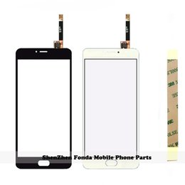 Wholesale Touch Screen Phone Replacement Glass - Wholesale- Touch screen Digitizer For Meizu M3 Note touchscreen Sensor glass panel Assembly Replacement for Meizu M3 Note cell phone+Tape