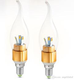 Ampoules à bougies décoratives en Ligne-Lampe à économie d'énergie LED E14 SMD5730 AC85-2650V Lampe à économie d'énergie décorative LED 3W