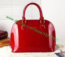Wholesale Handbags Bb - Top Grade Lady Embossed Patent Leather Handbag Women Allma M90175 M50415 M90102 M90975 Shoulder Bag BB Mini Size Many Colors