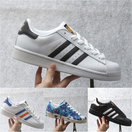 Wholesale Genuine Leather Winter Boots - 2017 Wholesale Adidas Originals Superstars 80s Mens Retro Sneakers Camouflage Canvas Hologram Iridescent Junior Women&Men Sport Boots 5-11