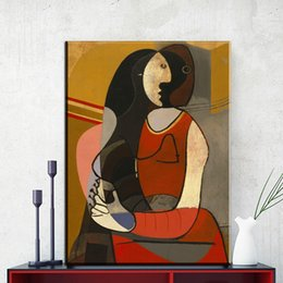Wholesale Picasso Art Pictures - ZZ845 modern abstract portrait canvas art picasso canvas pictures oil art painting for livingroom bedroom decoration unframed