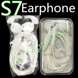 Wholesale Earphone Mic Volume Retail - Original Quality 3.5mm In Ear Headset With Mic Volume Control Earphones For Samsung galaxy s6 s7 s7 edge for iphone Headphone Retail Box