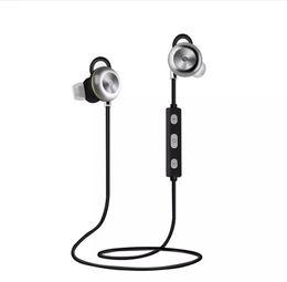 mobile mains libres usb Promotion En gros nouveau X9 Magnétique Métal Bluetooth Casque v4.1 Sport Stéréo Sans Fil Écouteur Mains Libres Voix Répondre Téléphone Appels Apt-x pour Mobile