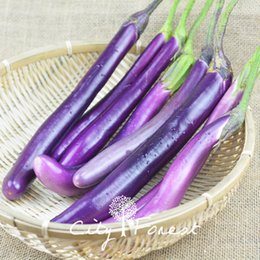 Fácil cultivo de vegetales online-Berenjena Long Purple Vegetable Seeds 100 pcs / bolsa Fácil de cultivar a partir de semillas Heirloom Vegetable Seed Container Balcony Delicious