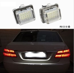 Wholesale mercedes plates - LED License Plate Light For Mercedes W204 5D W212 W216 W221 C207 Benz AMG Accessories White SMD Car LED number plate lamp