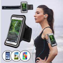 Wholesale Clear Wine Bags - Workout Armband Holder Pounch For Iphone 6 Cell Mobile Phone Arm Bag Band For Samsung Waterproof Sports Running Case Armband Running Bag