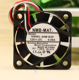 Вентилятор 4 см 12v онлайн-Оригинальный NMB 1604KL-04W-B39 0.09 A 12 В 4010 4 см 3 провода ультра тихий мяч вентилятор охлаждения