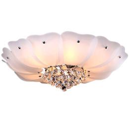 Kristall klassiker für wohnzimmer online-Romantische Kristall Lotus Wohnzimmer Deckenleuchte Leuchte Klassische Glas Schlafzimmer Deckenleuchten Prinzessin Zimmer Deckenleuchte