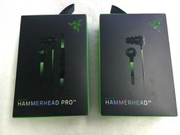 2019 auricolari dacom Razer Hammerhead Pro V2 Cuffie auricolari auricolari con microfono con auricolari da gioco in scatola al minuto Spedizione gratuita.