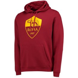 Wholesale Men S Wool Suits Blue - 2017 ROMAS AC soccer hoodies Football coat jacket Roma TOTTI Sweatshirt Men Hoodies Training Suit Sportsware with pants