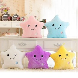 Wholesale Relax Pillow - Wholesale- Colorful Body Pillow Star Glow LED Luminous Light Pillow Cushion Soft Relax Gift