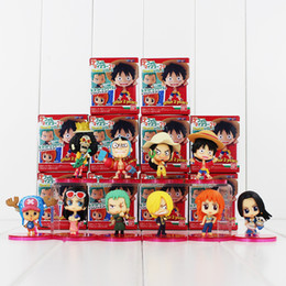Wholesale Chopper Sanji Figure - One Piece Luffy Nami Robin Chopper Sanji PVC Action Figure Collectable Model Toy for kids gift free shipping retail