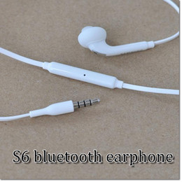 Wholesale Lg Volume - S6 Earphone S6 Edge Earphones Headphone Earbuds Jack with Microphone and Volume Control for Galaxy S6 S5 S4 Black White Color