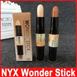 Luce disponibile online-Correttore NYX Wonder stick highlights e contorni ombreggiatura Light / Medium / Deep / Universal Pick up misto disponibile Più recente