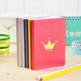Wholesale Word Notebooks - Wholesale- Korea Stationery small fresh candy color word of the crown Notepad Notebook 1pcs mixed color