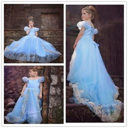 Wholesale Chinese Tutu Dress For Girls - newborn Hi_Lo Pageant Dresses For Girls Jewel Long Sleeve Flower Girl Dresses For Toddlers Teens Kids Formal Wear Party Communion Dresses