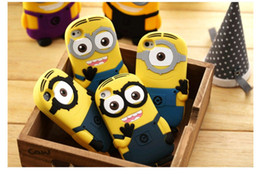 Wholesale Despicable Silicone - For Samsung S4 S5 S6 EDGE S7 NOTE 4 5 3D Cute Minions Despicable Me2 Case Soft Silicone Cartoon Back Cover Smile Big Eye minions