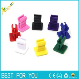 Wholesale Exhibit Battery - New hot Silicone e cig colorful display frame e cigarette shelf exhibit clear stand show shelf holder rack for ego evod battery car ecig