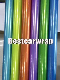 Wholesale film unions - Various Colors Gloss With gold flow Vinyl Wrap Car Wrap Film Union Luxury Vehicle Wrapping foil COVERING Size:1.52*20m( 5x67ft)